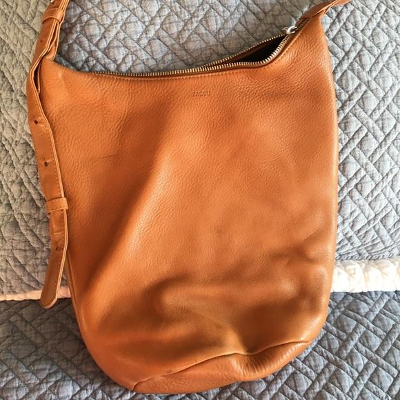 c64b1a2abbc6 Baggu camel leather bag